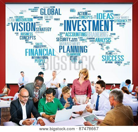 Investment Vision Planning Financial  Success Global Concept
