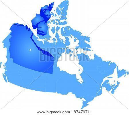 Map Of Canada - Northwest Territory
