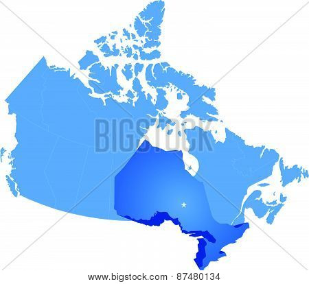 Map Of Canada - Ontario Province