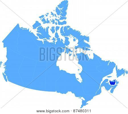 Map Of Canada - Prince Edward Island Province