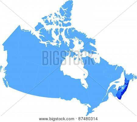 Map Of Canada - Nova Scotia Province