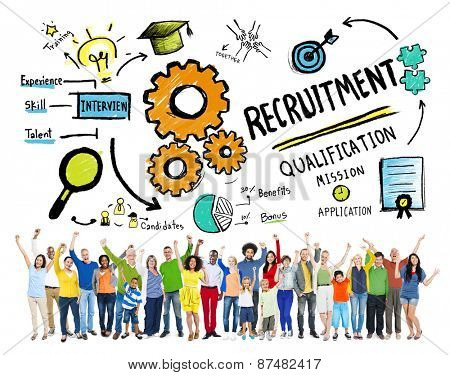 Ethnicity People Recruitment Goal Cheerful Celebration Concept