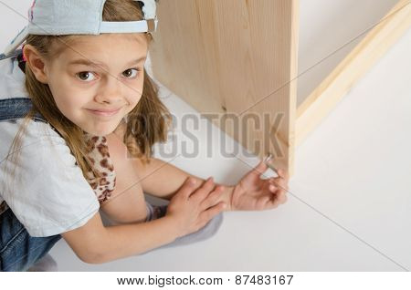 Girl In Overalls Collector Furniture Screw Spins