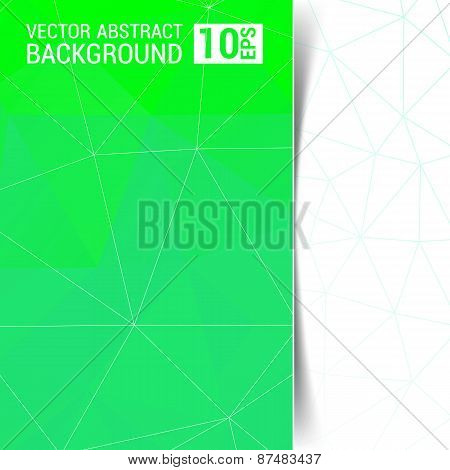 Abstract Geometric Background With Triangular Polygons Green
