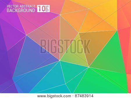 Colorful Background Color Colorful Rainbow Polygonal Polygon