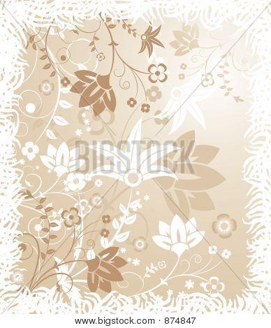 Grunge Floral Background, Elements For Design