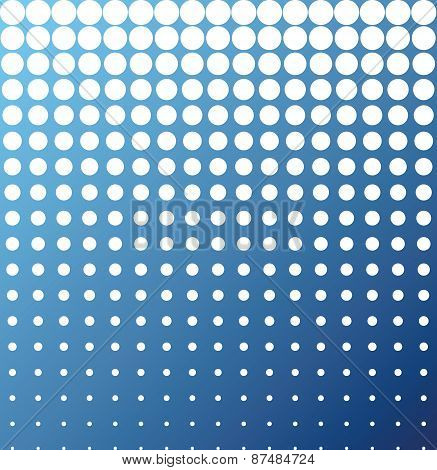 Abstract Background White Blue Halftone Vector
