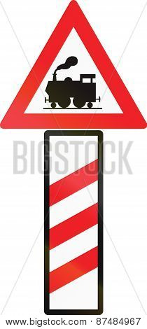 Unguarded Level Crossing Countdown Marker In Austria