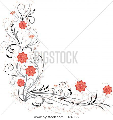 Element For Design, Corner Flower,