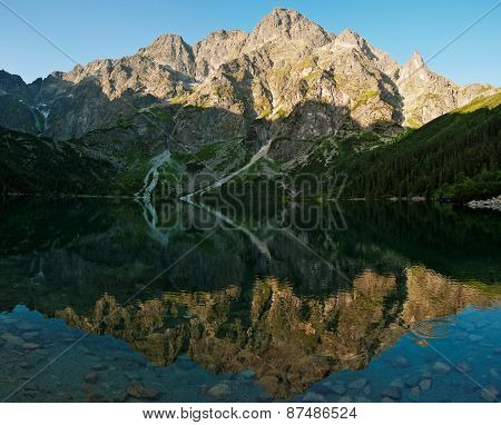 Mirroring The Peaks In The Lake Sea Eye