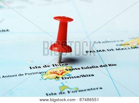 Ibiza   Island ,spain Map
