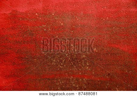 Red Rusty Plate