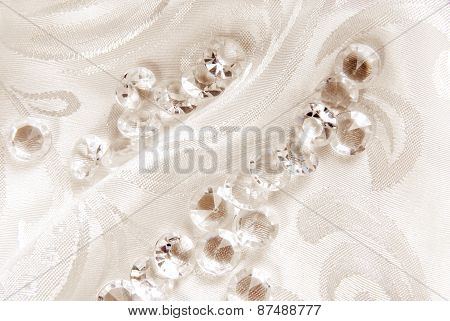 diamonds on floral fabric