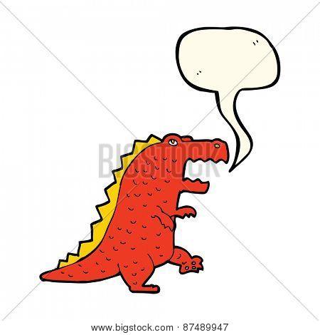 cartoon dinosaur with speech bubble