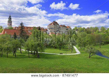 City Skyline Of Cesky Krumlov