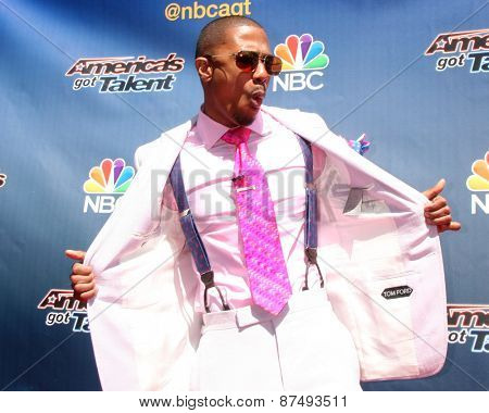 LOS ANGELES - FEB 8:  Nick Cannon at the America's Got Talent Photocall at the Dolby Theater on FEB 8, 2015 in Los Angeles, CA