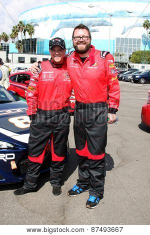 LOS ANGELES - FEB 7:  Brett Davern, Rutledge Wood at the Toyota Grand Prix of Long Beach Pro/Celebrity Race Press Day at the Grand Prix Compound on FEB 7, 2015 in Long Beach, CA