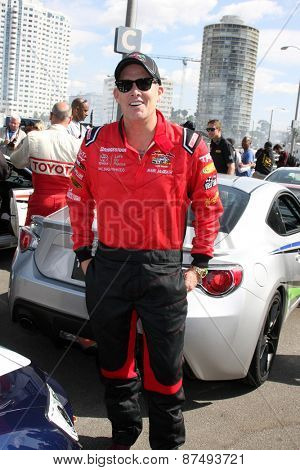 LOS ANGELES - FEB 7:  Mark McGrath at the Toyota Grand Prix of Long Beach Pro/Celebrity Race Press Day at the Grand Prix Compound on FEB 7, 2015 in Long Beach, CA