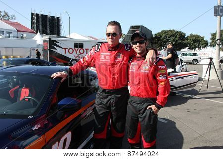 LOS ANGELES - FEB 7:  Robert Patrick, Nathan Kress at the Toyota Grand Prix of Long Beach Pro/Celebrity Race Press Day at the Grand Prix Compound on FEB 7, 2015 in Long Beach, CA