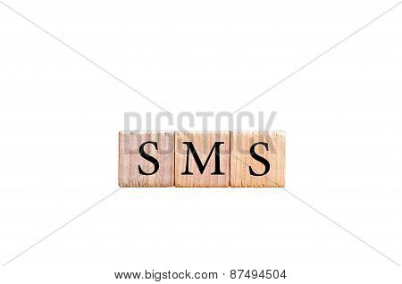 Acronym Sms - Short Message Service Isolated With Copy Space