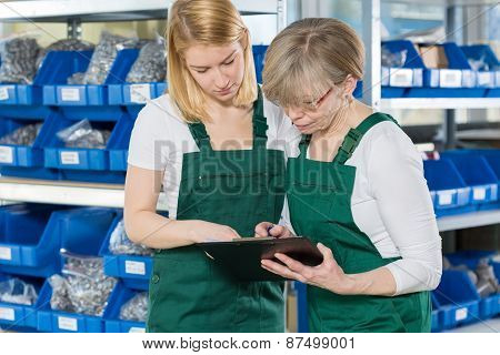 Women Working In Storehouse