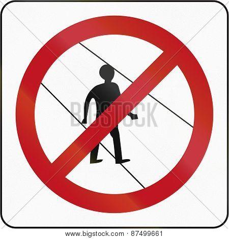 No Pedestrians In Brunei