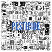 foto of pesticide  - Close up Blue PESTICIDE Text at the Center of Word Tag Cloud on White Background - JPG
