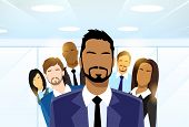 pic of leader  - Business People Group Leader Diverse Team Vector Illustration - JPG
