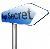 picture of top-secret  - top secret confidential and classified information private property or information sign   - JPG