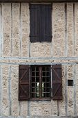 image of quaint  - Quaint details on a building in a small French town - JPG