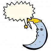 image of sleepy  - sleepy moon cartoon with speech bubble - JPG