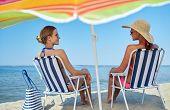 pic of sunbathing woman  - summer vacation - JPG