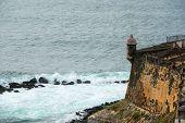 picture of el morro castle  - Castillo San Felipe del Morro El Morro Sentry Box - JPG