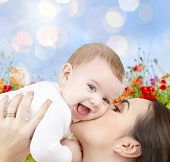 foto of mother baby nature  - people - JPG