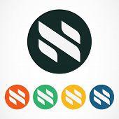 image of letter n  - Vector logo design template - JPG