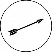 picture of fletching  - arrow symbol - JPG