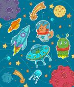picture of cosmic  - Cosmic life objects for child decoration and other prints - JPG
