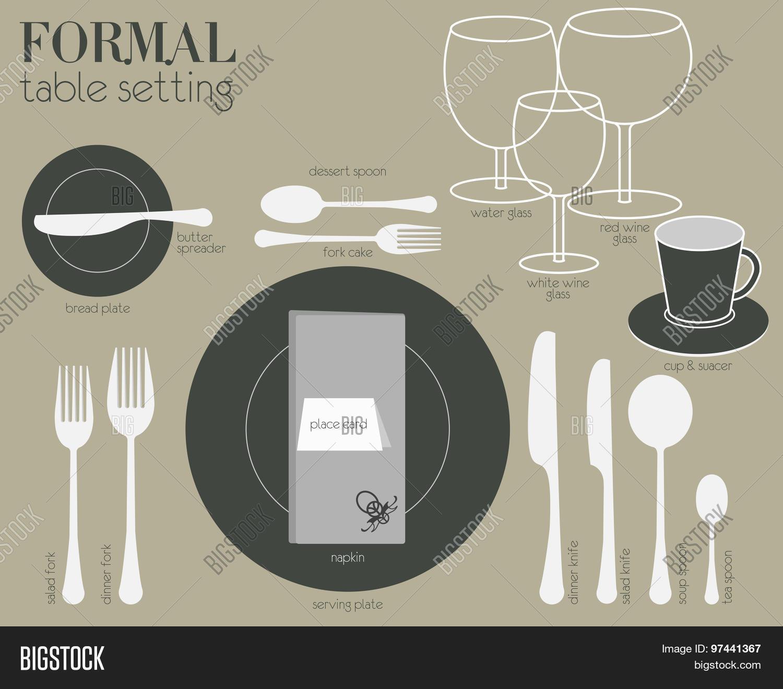 Formal Table Setting Vector Photo Bigstock