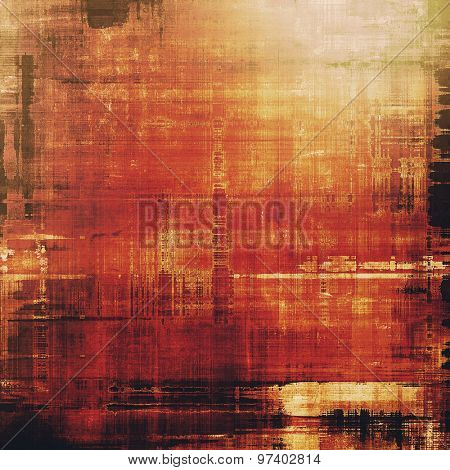 Abstract grunge textured background. With different color patterns: yellow (beige); brown; red (orange); black