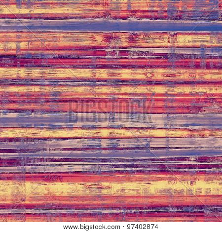 Art vintage background with space for text and different color patterns: yellow (beige); purple (violet); blue; red (orange)