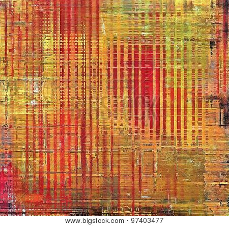 Background in grunge style. With different color patterns: yellow (beige); brown; green; red (orange)