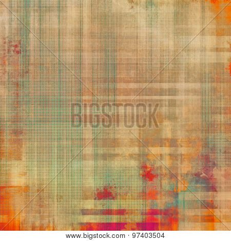 Vintage textured background. With different color patterns: yellow (beige); brown; green; red (orange)