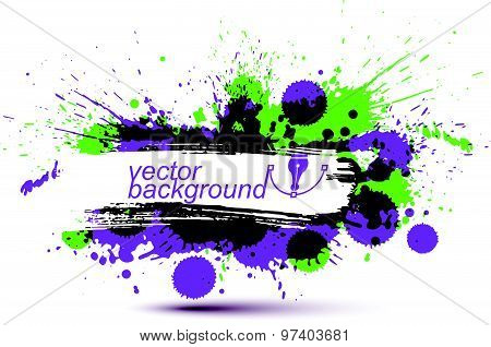 Colorful vector ink splash seamless pattern with overlap circles, bright graphic art repeat backdrop