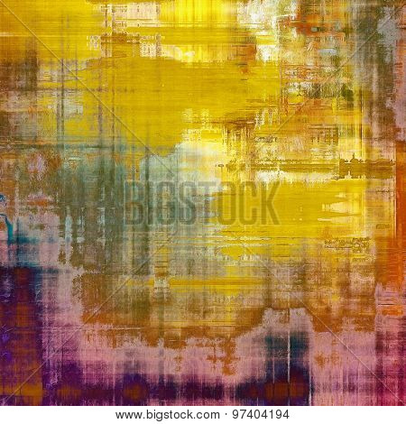 Aging grunge texture designed as abstract old background. With different color patterns: yellow (beige); brown; purple (violet); red (orange)