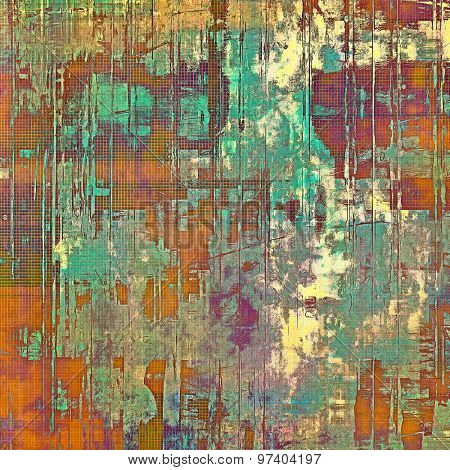 Highly detailed grunge texture or background. With different color patterns: brown; purple (violet); green; blue