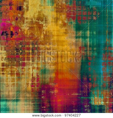 Grunge old-school texture, background for design. With different color patterns: yellow (beige); purple (violet); green; blue; red (orange)