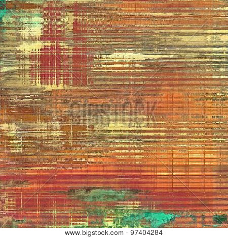 Old abstract grunge background, aged retro texture. With different color patterns: brown; purple (violet); green; red (orange)