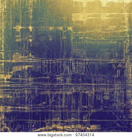 Vintage texture with space for text or image, grunge background. With different color patterns: yellow (beige); brown; green; blue