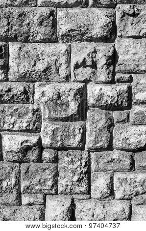Old Stone Wall Closeup