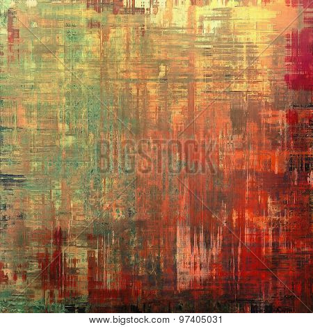 Grunge texture, may be used as retro-style background. With different color patterns: yellow (beige); brown; green; red (orange)